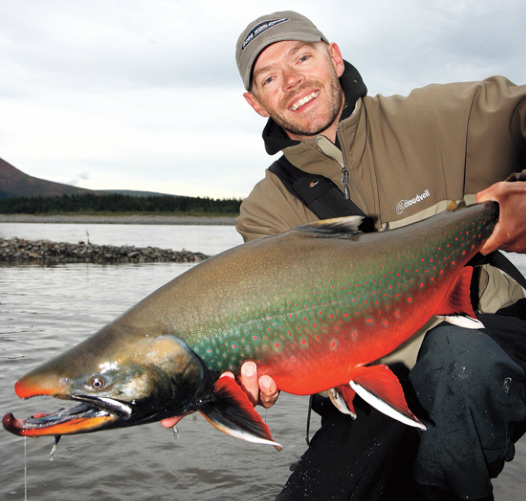 World record Dolly Varden 27.7 pounds,  Landon Mayer